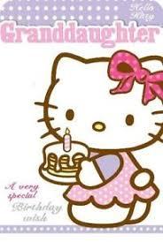 hello kitty granddaughter a very special birthday wish birthday