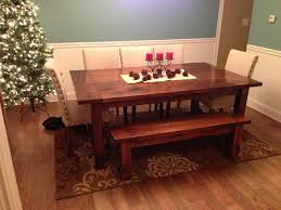 simple diy farmhouse style dining room table tutorial the project diy farmhouse dining room table