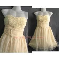 strapless ruffle party dress honey bridesmaid dress birthday gifts