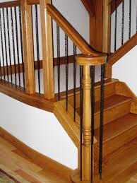 Metal Banister Spindles Metal Balusters Custom Stairs U0026 Finishes Medina Oh