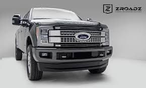 f250 led light bar 2017 2018 f250 f350 platinum zroadz oem upper grille light