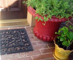 Cheap Outdoor Rubber Flooring by Curb Alert Repurposed Door Mat To Cover An Ugly Return Air Vent