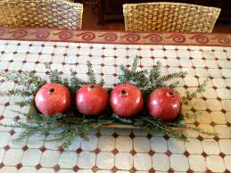 pomegranate christmas centerpiece simply turquoise