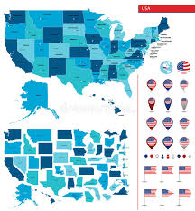 map usa big detailed map of the united states of america big sities icons