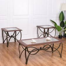 Oak And Glass Side Table Coffee Table Set Ebay