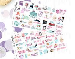 Wedding Planning Wedding Planner Stickers Etsy