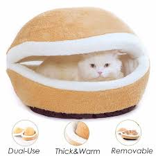 small pet beds hamburger dog house short plush small pet bed removable cat