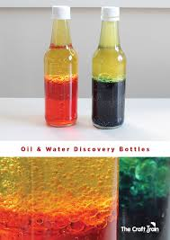 oil and water discovery bottles the craft train