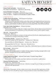 Managing Editor Resume Photography Skills On Resume Resume For Your Job Application
