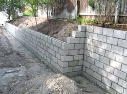 cinder block wall ideas cinder block retaining wall with the