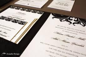 Black Wedding Invitations Black And White Wedding Invitations Zenadia Design