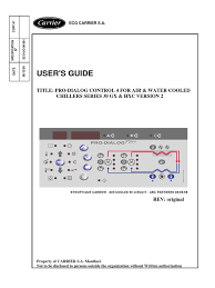 user u0027s guide title pro dialog control 4 for air u0026 water cooled