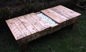 bench with planter 101 pallets