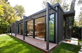 modern prefab shipping container home ideas with grey exterior