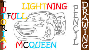how to draw a car step by step easy for kids lightning mcqueen