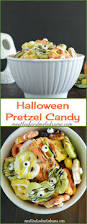 easy candy coated halloween pretzels recipe easy halloween
