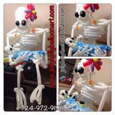 halloween balloon skeleton decoration jolly holly balloon art