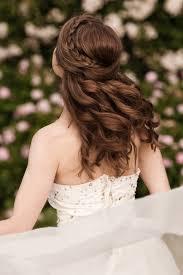 half up flower braid hairstyle