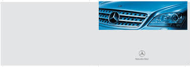 mercedes benz automobile 2009 ml350 user guide manualsonline com