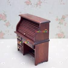 Tisch Schreibtisch Puppenhaus Miniaturen 1 12 Skala Zimmer Möbel Zubehör Holz Studie