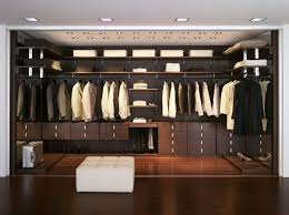 classy dark brown stained mahogany wood closet organizer decor