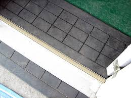 how to install rubber flooring and a threshold ramp how tos diy