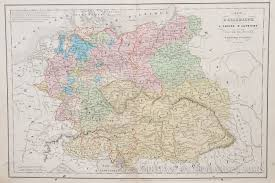 Austria World Map by Map Of Austria And Germany 1858
