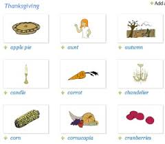 flashcards for thanksgiving esl library
