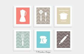 Kitchen Utensils Names by Modern Kitchen Art Print Set Utensil Appliance Silhouettes