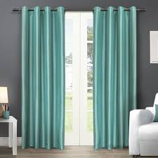 ati home chatra faux silk grommet top panel curtains free