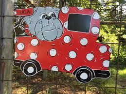 georgia bulldogs door hanger truck door hanger football