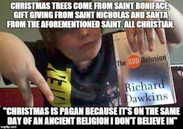 Holiday Meme - christmas is a pagan holiday the war on christmas know your meme