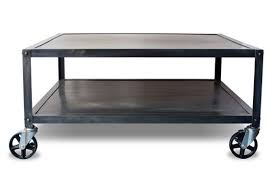 square metal coffee table hand crafted industrial modern square metal coffee table with