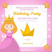 princess style birthday card vector free download