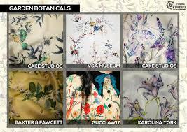 Garden Botanicals Textile Garden Botanicals Botanical Floral Cake Studios V A