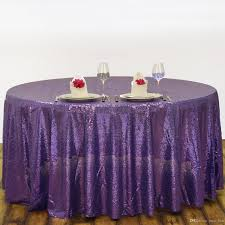 Buy Table Linens Cheap - buy from china 120 u0027 u0027 round purple sequin table cover wedding cheap