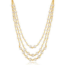 multi gold necklace images Buy spargz gold plated traditional party pearl multi strand mala jpg