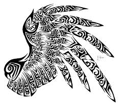tribal wing by generic username wings and feathers