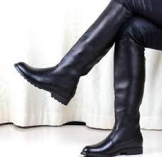 s boots flat s leather solid black knee high boots flat