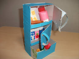 refrigerator tissue box craft preschool education for kids