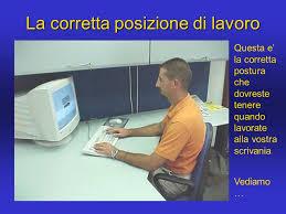 postura corretta scrivania ergonomia della mobilia d ufficio la scrivania ppt