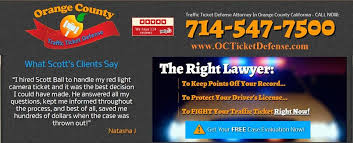 california red light law orange county traffic ticket lawyers law office of scott r ball
