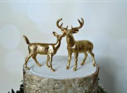 buck and doe wedding cake topper deer cake topper gold wedding fall grooms buck and doe