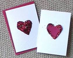 home made s day cards with glitter