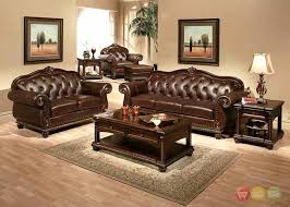 Leather Upholstery Sofa Amazing Of Genuine Leather Sofa Sets Anondale Brown Button Tuft