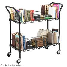 Wire Shelf Cart Wire Book Cart Safco Products