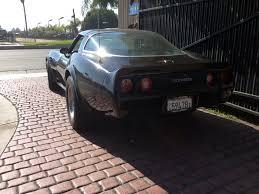 1980 corvette in black with gray black interior automatic