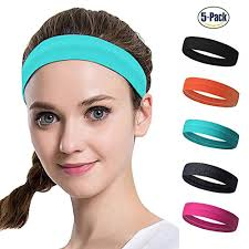 headband sports set of 5 women s sport athletic headband for running sports