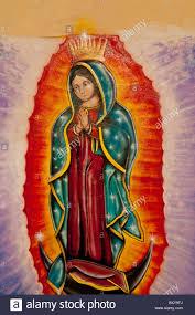 wall mural depicting the virgin mary along a street in the spanish stock photo wall mural depicting the virgin mary along a street in the spanish colonial city of santiago de queretaro queretaro mexico