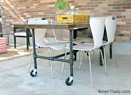 Dining Table And Chairs On Wheels Diy Plumbing Pipe Table Tutorial